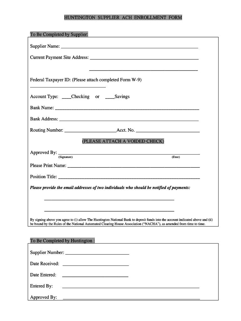 Huntington Bank Direct Deposit Form Fill Online Printable Fillable Blank Pdffiller