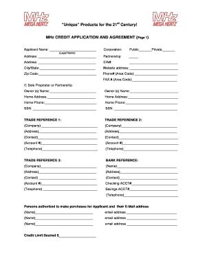 19 Printable customer credit application form and