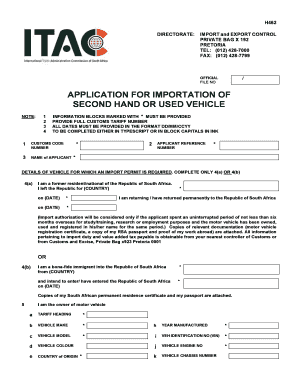 Import Permits South Africa Cars - Fill Online. Printable. Fillable. Blank   PDFfiller