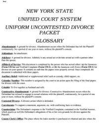 Ny Uncontested Forms - Fill Online, Printable, Fillable ...