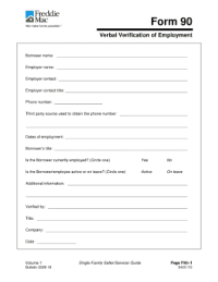 Verbal Verification Of Employment Form - Fill Online ...