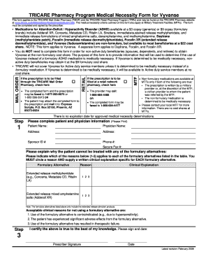 Vyvanse Tricare  Fill Online Printable Fillable Blank