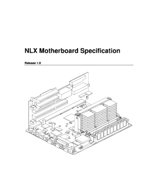 Fillable Online formfactors NLX Motherboard Specification