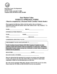 Free Auto Appraisal Forms Download - Fill Online ...
