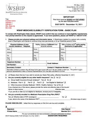 Medicare Insurance Verification Form Pdf Fillable - Fill ...