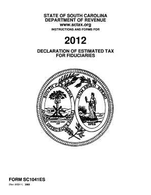 South Carolina Department Of Revenue 2012 Fiduciary