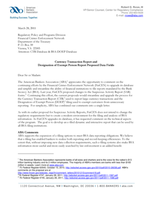Fillable Online fincen March 28, 2011 Regulatory Policy