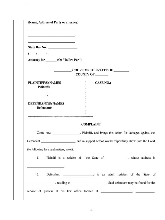 Medical Malpractice Complaint Form - Fill Online, Printable