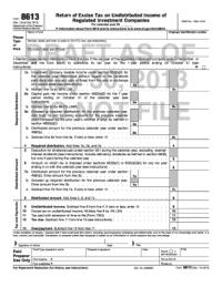 Fillable Online irs Form 8613 (Rev. December 2013). Return ...