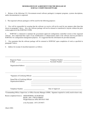 memorandum of agreement sample letter Forms and Templates