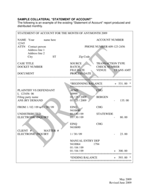 11 Printable statement of account sample doc Forms and