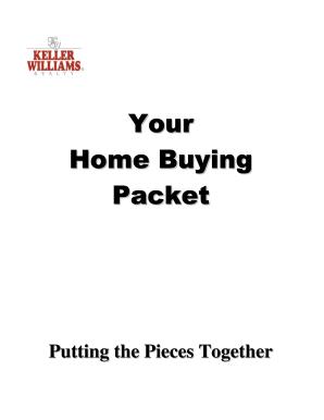 Editable real estate buyer information sheet template
