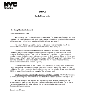 Reference Letter For Condo Association