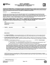 Hawaii Rental Agreement - Fill Online, Printable, Fillable ...