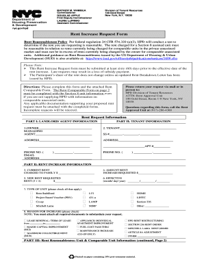 Hpd Rent Request Form - Fill Online, Printable, Fillable, Blank ...