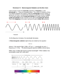 Electromagnetic Wave Worksheet