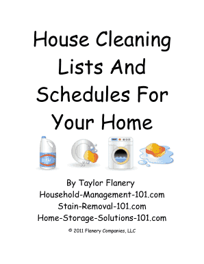 26 Printable Weekly Cleaning Checklist Forms and Templates
