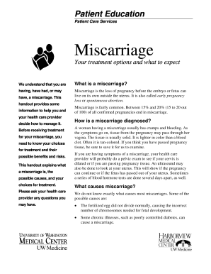 Miscarriage Papers  Fill Online Printable Fillable