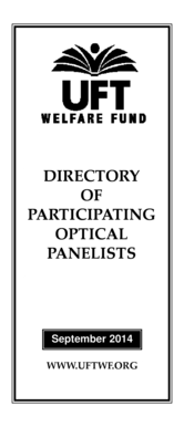Fillable Online uft Directory of Participating Optical