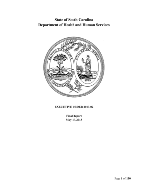 Fillable Online State of South Carolina Department of