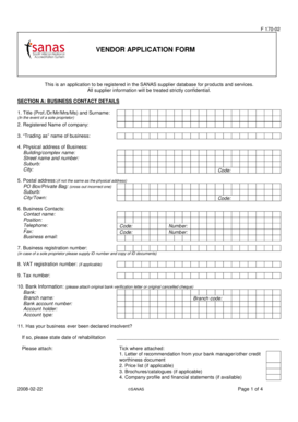Fillable Online sanas co borg wagner sa pty ltd form Fax