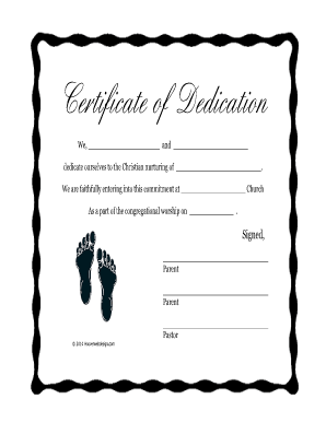 39 Printable Baby Certificate Forms and Templates