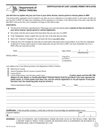 License Plate Surrender Form Pd7 - Fill Online, Printable ...