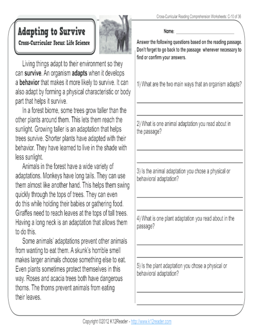 small resolution of Animal Adaptations Worksheets Pdf - Fill Online
