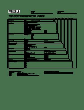 Fillable Online Vaisala BAROCAP Digital Barometer PTB330
