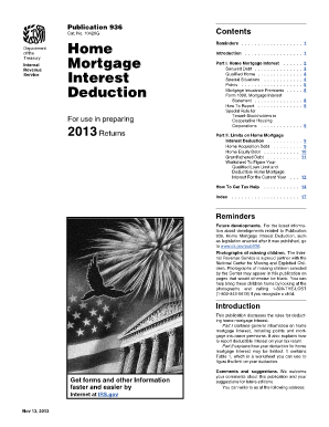 Fillable Online irs 2013 Publication 936. Home Mortgage