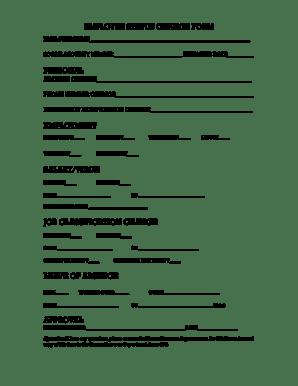 Fillable Online andersontn EMPLOYEE STATUS CHANGE FORM