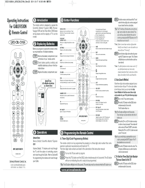 Fillable Online Operating Instructions For CABLEVISION