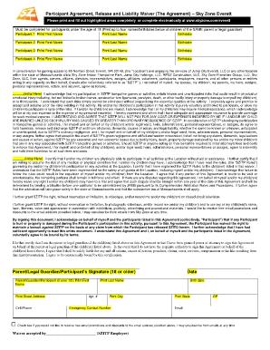 Skyzone Printable Waiver Oaks Fill Online Printable Fillable Blank PDFfiller