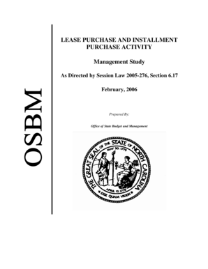 Fillable Online osbm state nc Lease Purchase and