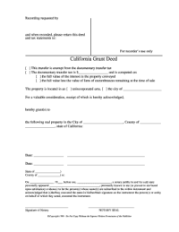Blank Grant Deed | White Gold