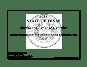 Fillable Online tdi texas 2013 Insurance Expense Exhibits