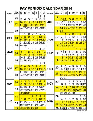 Period Calendar 2016 - Fill Online. Printable. Fillable. Blank   PDFfiller