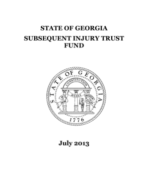 Fillable Online Subsequent Injury Trust Fund Fax Email