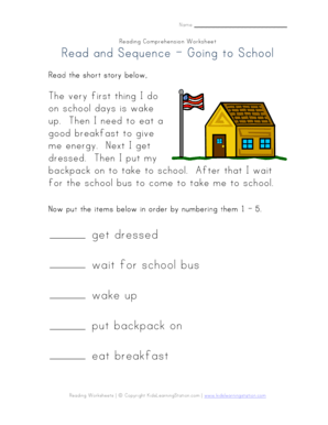 All Worksheets » Getting Ready For School Worksheets