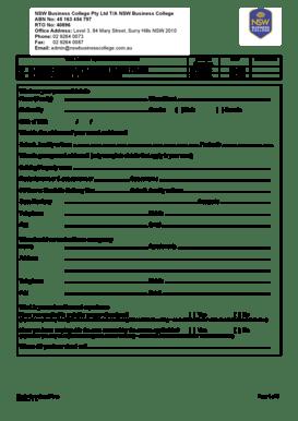 Fillable Online Student enrolment form.docx. Instructions