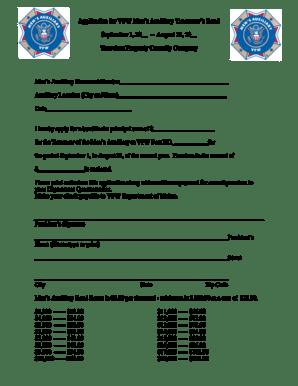 Fillable Online mainevfw Application for VFW Men Aux Bond