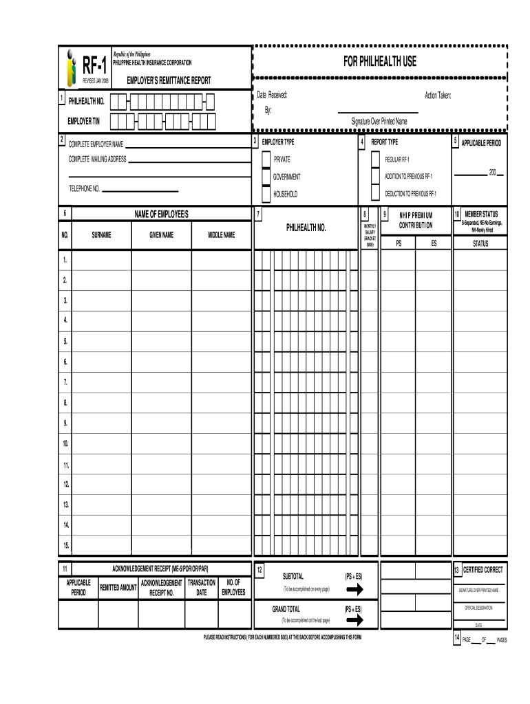 2008 Form PH RF-1 Fill Online, Printable, Fillable, Blank