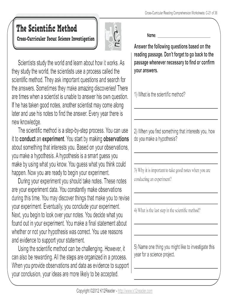 medium resolution of Reading Comprehension 3rd Grade Pdf - Fill Online