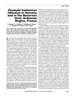 Fillable Online wwwnc cdc Puumala hantavirus Infection in Humans ...
