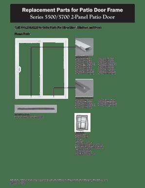silverline 5500 patio door parts fill