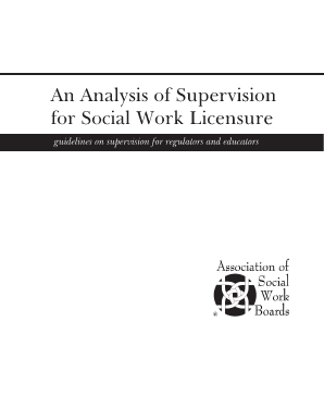 An Analysis Of Supervision For Social Work Licensure
