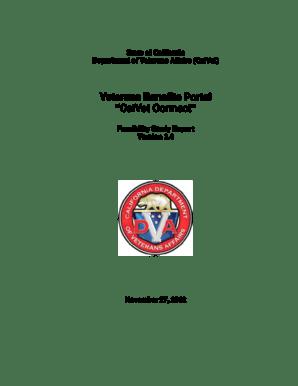 Fillable Online ocio ca Veterans Benefits Portal CalVet