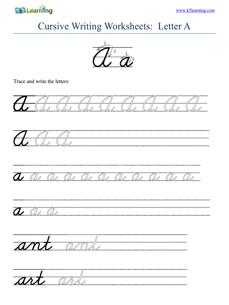 hight resolution of Cursive Writing Worksheets Pdf - Fill Online