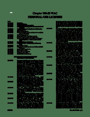 Fillable Online leg wa Chapter 220-55 WAC PERSONAL-USE