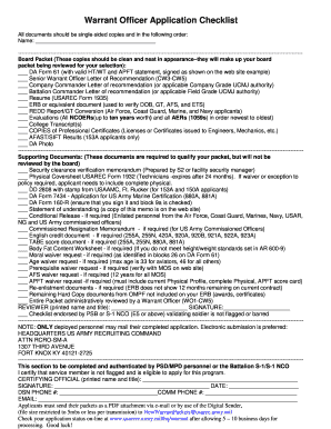 Picture Of Warrant Officer Cv Fill Online Printable Fillable